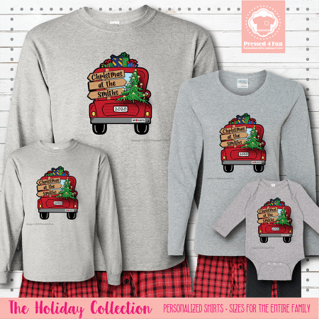 Christmas Truck Pajamas Long Sleeve