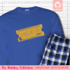 Express Train Ticket Blue Pajamas Long Sleeve Single