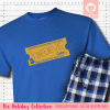 Express Train Ticket Blue Pajamas Short Sleeve Single