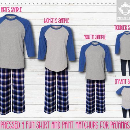 Pants Setup Grey Royal Blue RG