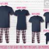 Maroon Blue Short Sleeve Pants Setup