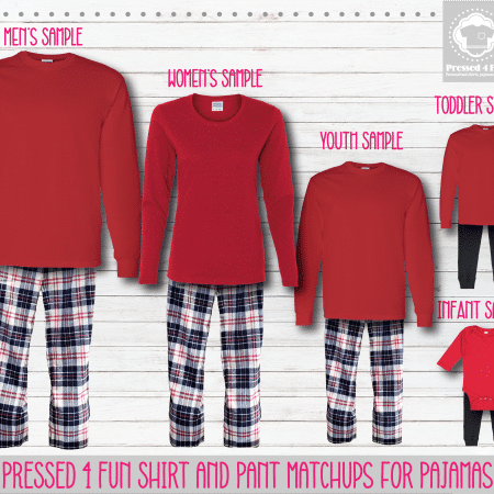 Red Red Blue Long Sleeve Pant Setup