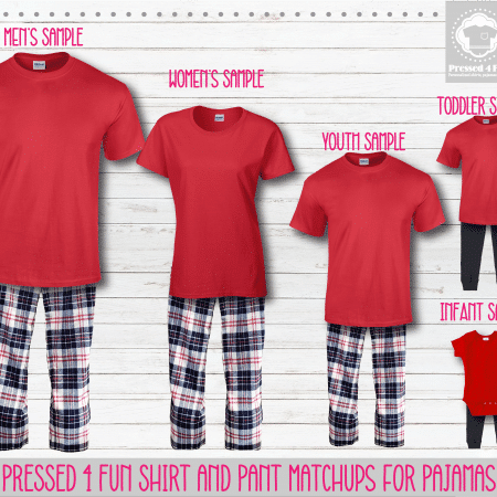 Red Red Blue Short Sleeve Pant Setup