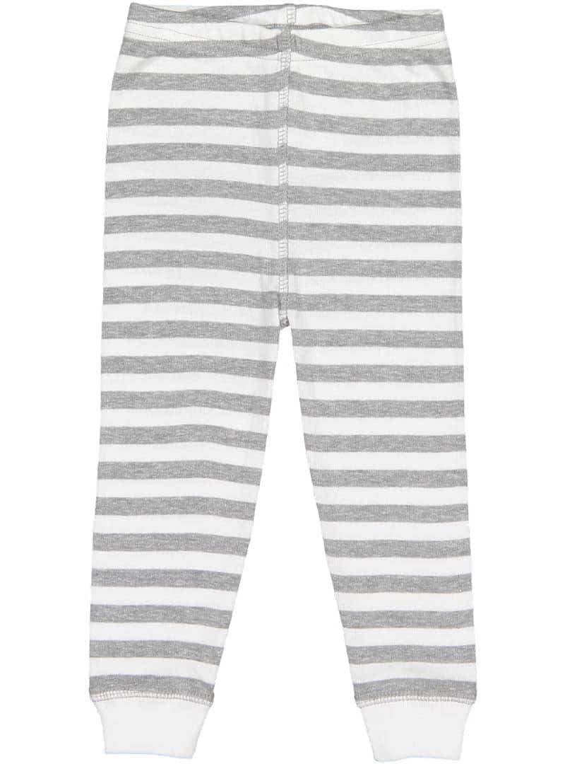 Grey and White Striped Jogger Pants
