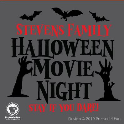 Halloween Movie Night Design