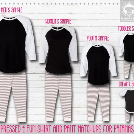 Pants Setup Black White Grey White