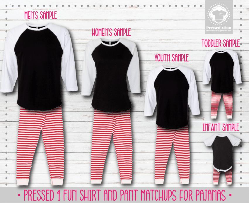 Pants Setup Black Red Stripe Raglans
