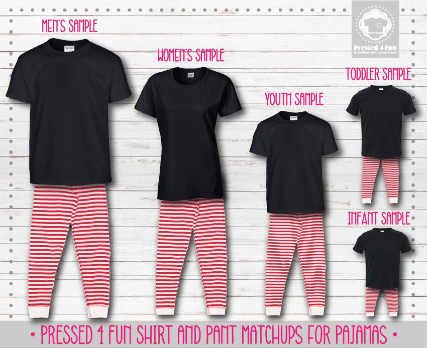 Pants Setup Black Red Stripe Short Sleeve