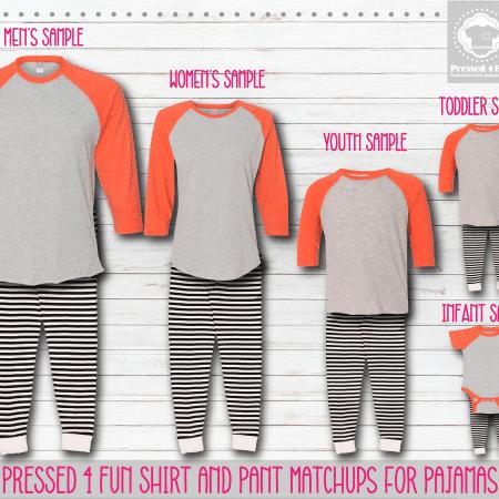 Pants Setup Orange Black Stripe RG