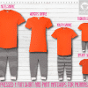 Pants Setup Orange Black Stripe SS