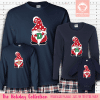 Holiday Gnome Initial Pajamas Long Sleeve Red