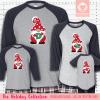 Holiday Gnome Initial Pajamas Raglans Red