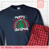 Christmas Rainbow Pajamas - Long Sleeve Single