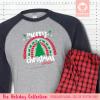 Christmas Rainbow Pajamas - Raglans Single