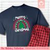 Christmas Rainbow Pajamas - Short Sleeve Single