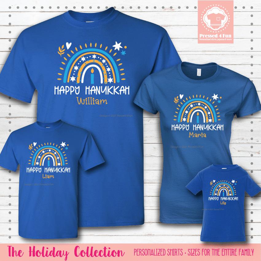 Hanukkah Rainbow Shirts - Short Sleeve