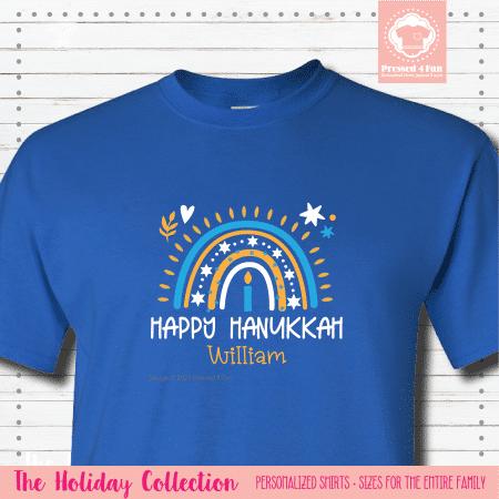 Hanukkah Rainbow Shirts - Short Sleeve Single