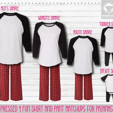 Red White Raglan Pants Setup