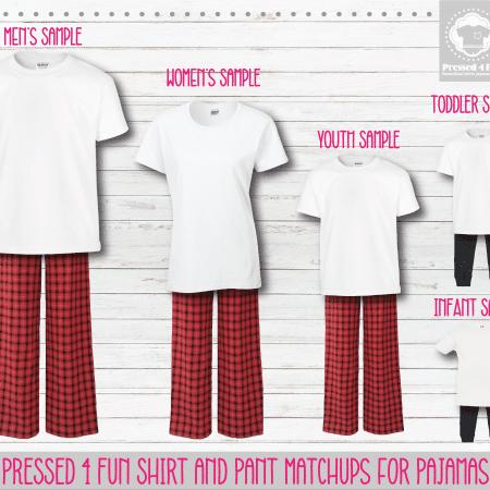 Red White Short Sleeve Pants Setup