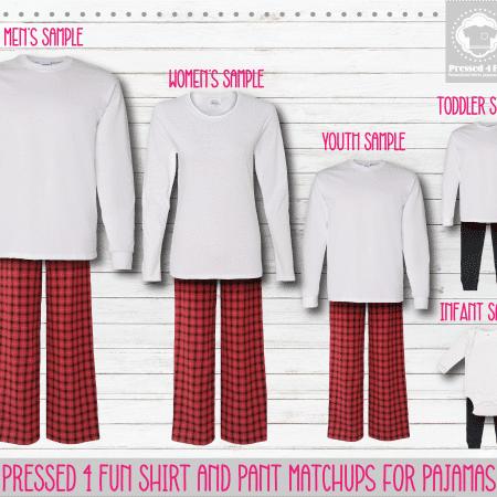 Red White Long Sleeve Pants Setup