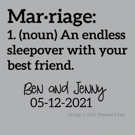 Marriage Sleepover Design