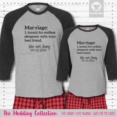Marriage Sleepover Pajamas - Raglans