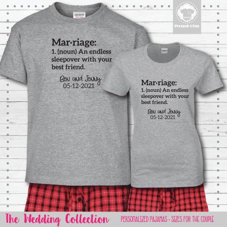 Marriage Sleepover Pajamas - Short Sleeve