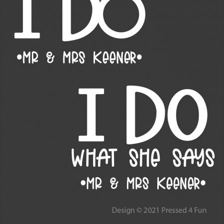 I Do Design - Mr & Mrs