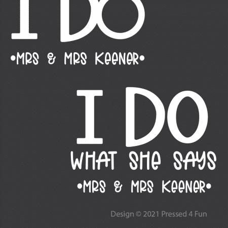 I Do Design - Mrs & Mrs
