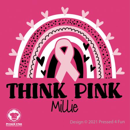 Think Pink Shirts Design